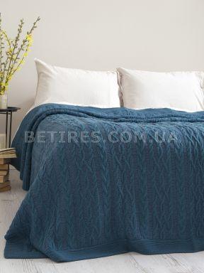 Покрывало 220x240 BETIRES DOLCE INDIGO (50% хлопок, 50% акрил) синее