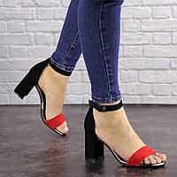 Женские босоножки на каблуке Fashion Loopy 1539 36 размер 23,5 см Черный