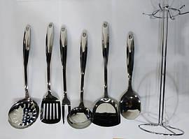 Набор кухонных приборов на подставке Benson BN-452 из 7 предметов