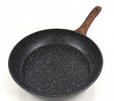 Сковородас антипригарным мраморным покрытием Benson BN-526 28 см Черная
