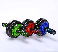 Тренажер-колесо для преса подвійне з килимком, Фітнес колесо, Ролик для преса, магазин Gipo , фото 1
