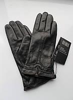 Женские кожаные перчатки 20839 черные