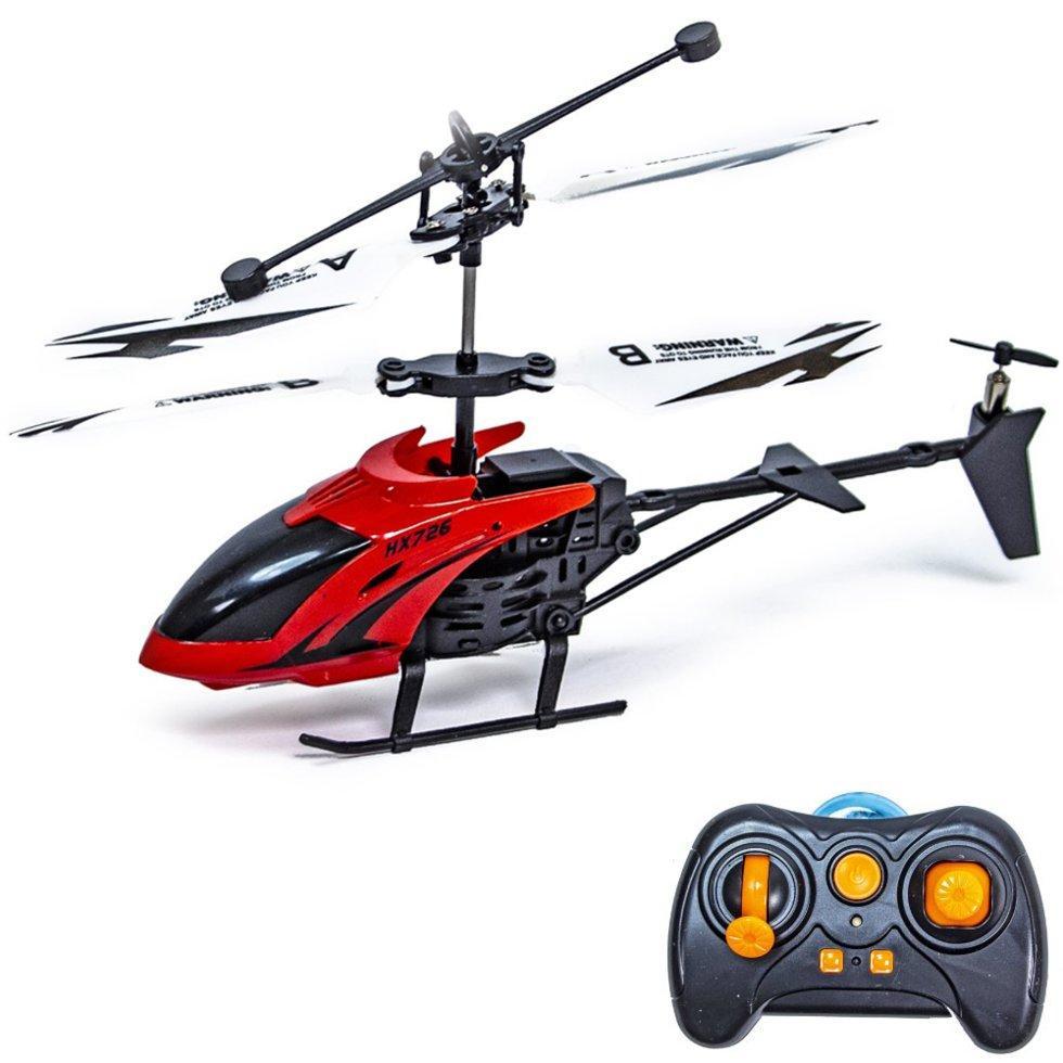 Радиоуправляемый микро вертолёт красного цвета