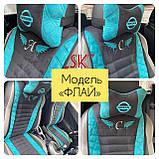 Накидки на передние сидения автомобильные чехлы универсальные с вышивкой, фото 6