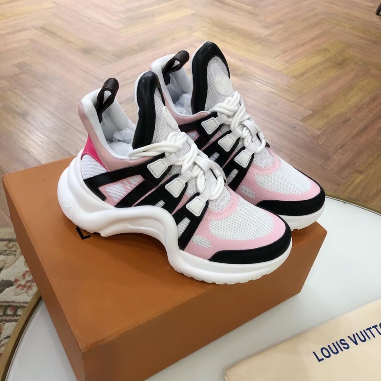 Кросівки, кеди, снікерси Луї Вітон, Archlight Sneaker, колір комбо