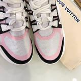 Кросівки, кеди, снікерси Луї Вітон, Archlight Sneaker, колір комбо, фото 3