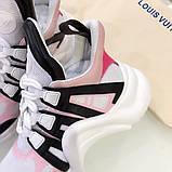 Кросівки, кеди, снікерси Луї Вітон, Archlight Sneaker, колір комбо, фото 4