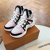 Кросівки, кеди, снікерси Луї Вітон, Archlight Sneaker, колір комбо, фото 7