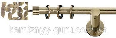 Карниз для штор ø 19 мм, одинарный, наконечник Делия