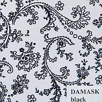 Рулонные шторы Ткань Damask Чёрный