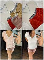 Р-р 42,44,46,48, пижама велюровая с шортами, женский домашний комплект