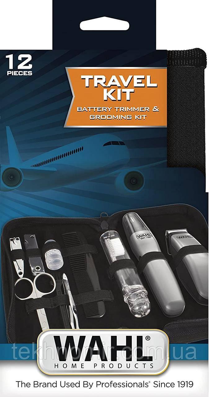 Дорожный набор / аккумуляторный триммер для бороды и триммер для носа и ушей  Wahl 9962-1816