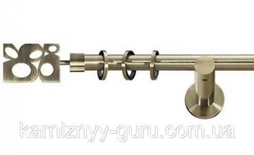 Карниз для штор ø 19 мм, одинарный, наконечник Бисетте