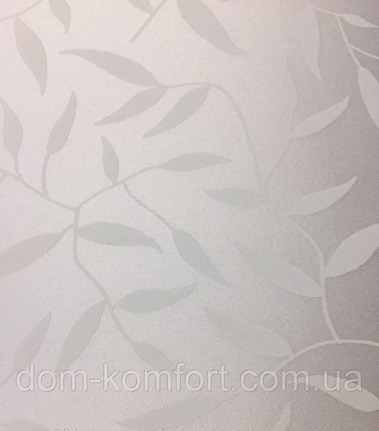 Рулонные шторы Ткань Лиана Белый