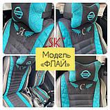 Накидки на передние сидения из алькантары универсальные с вышивкой, фото 3