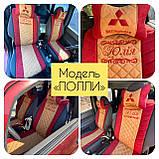 Накидки на передние сидения из алькантары универсальные с вышивкой, фото 8