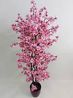 Дерево цветущей розовой сакуры искусственное 1.10 м