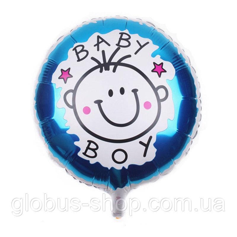 "Куля ""Baby Хлопчик"", 44 см, фольгований"