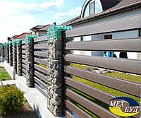 Забор Ранчо  с узкими рейками