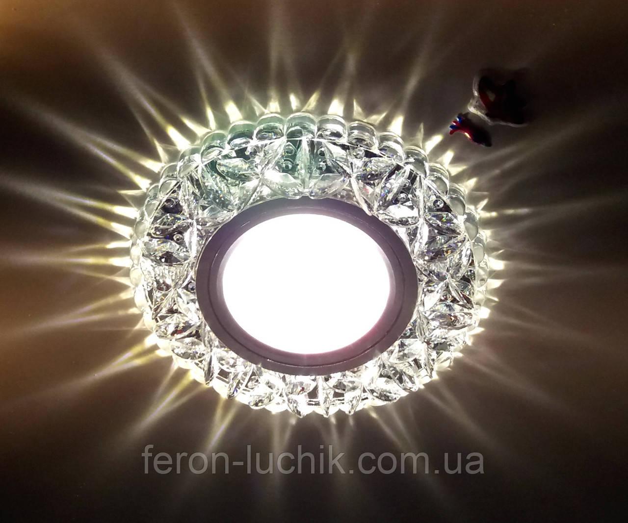 Встраиваемый светильник Feron 7103 с LED подсветкой потолочный точечный
