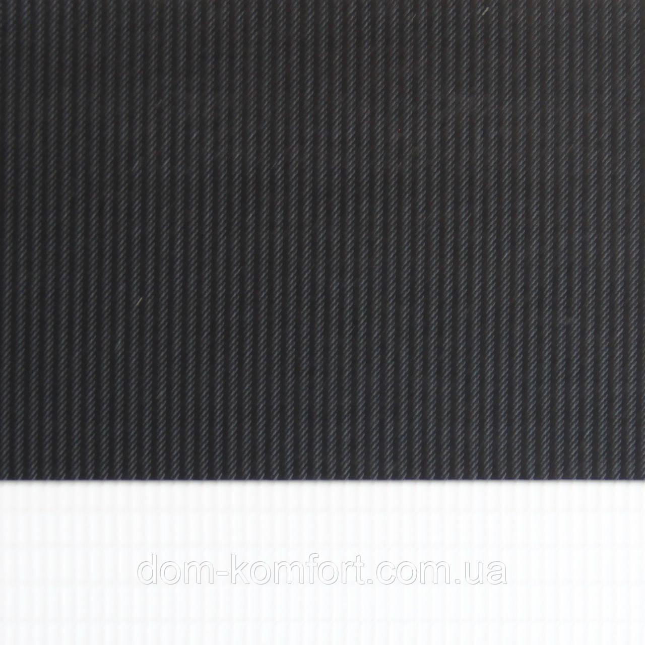 Рулонные шторы День Ночь Ткань Панама Z-055 Чёрный