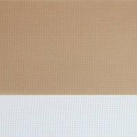 Рулонные шторы День-Ночь Ткань Рио Z-063 Тёмно-бежевый