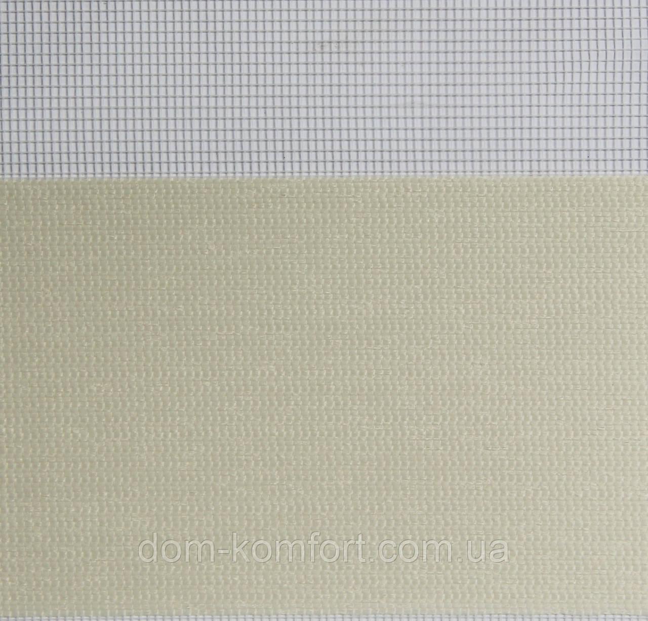 Рулонные шторы День-Ночь Ткань Рио Z-067 Топленое молоко