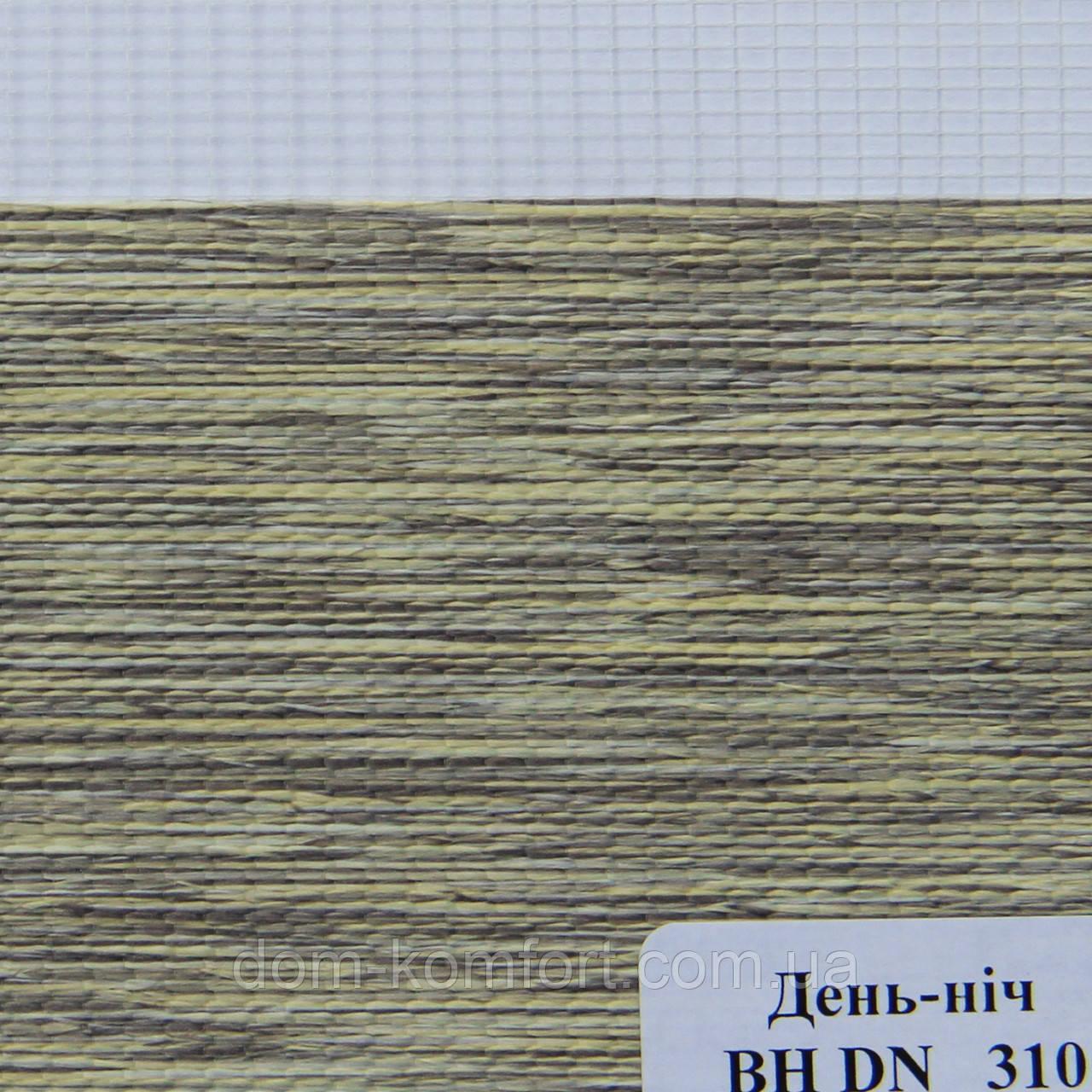 Рулонные шторы День Ночь Ткань Лагуна ВН DN 310 Хаки