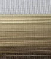 Рулонні штори День-Ніч Тканина Містичний Z-571 Бежево-коричневий