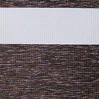 Рулонные шторы День-Ночь Ткань Кения ВН 37 Wenge