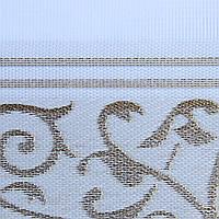 Рулонные шторы День-Ночь Ткань Вензель Z-751 Белый