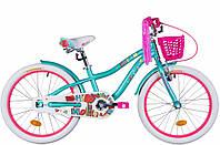 """Велосипед детский для девочек Formula Cream 20"""" алюминиевая рама бирюзовый"""