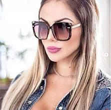 Солнцезащитные очки женские квадратные (коричневые)
