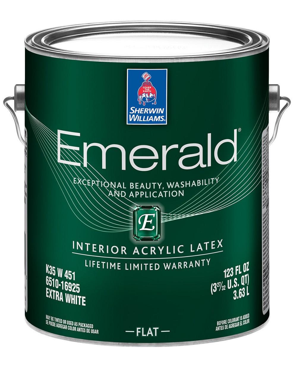 КРАСКА EMERALD INTERIOR SATIN (Изумруд) Interior Acryllic Latex (Extra White) Sherwin Williams