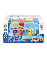 Ксилофон с шариками и молоточком, музыкальная развивающая игрушка для малышей, 7035
