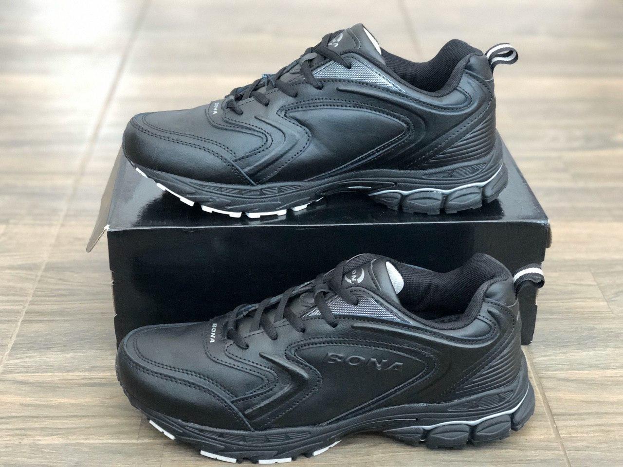 Кожаные мужские туфли кроссовки кожаные BONA 755 размеры 41,43,44