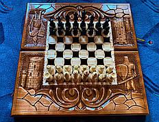 """Шахматы """"Рыцари"""" ручной работы"""