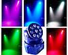 Динамический световой прибор голова Moving head Wash 9x8w RGBW 4in1 DMX, фото 2