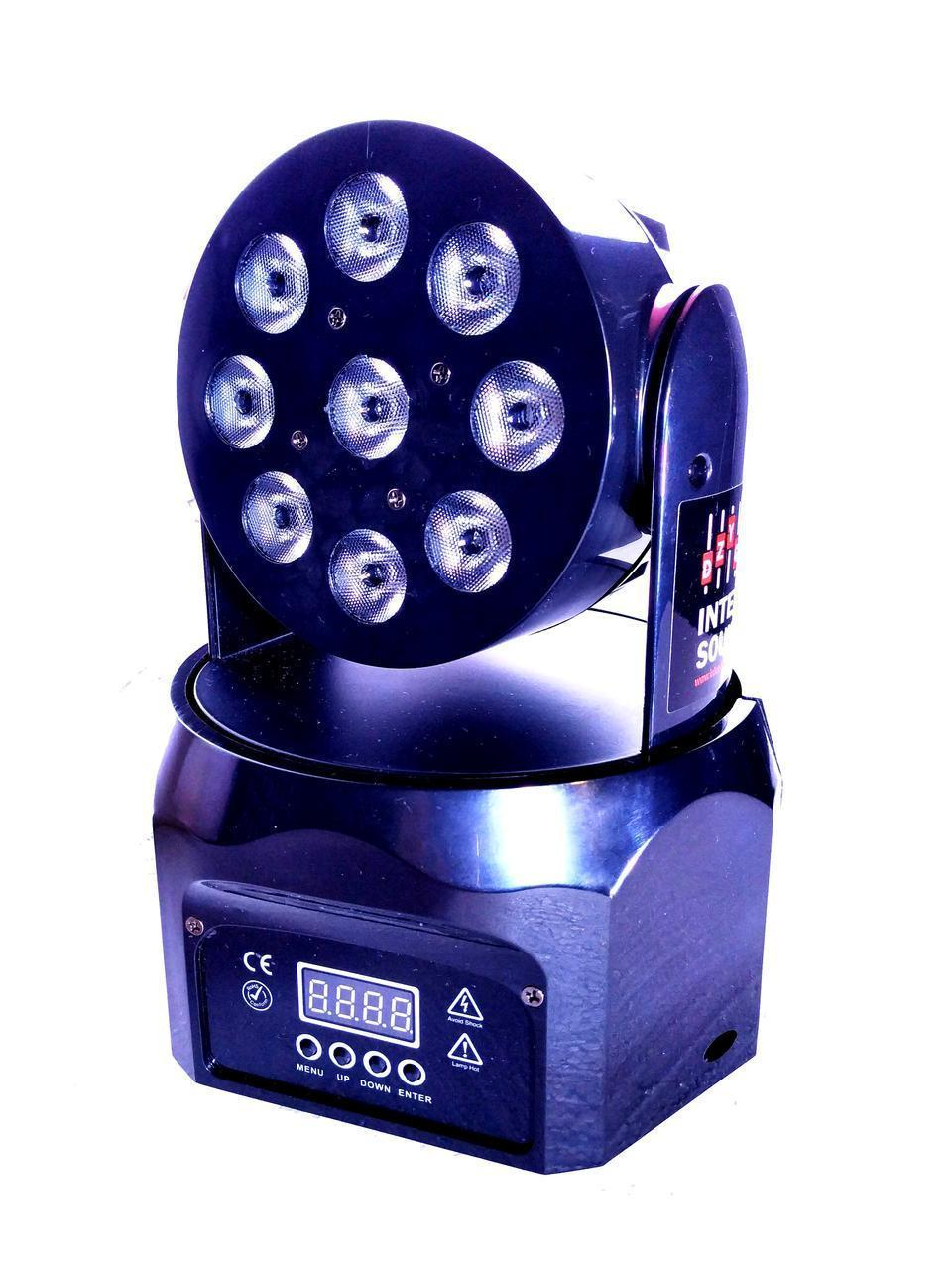 Динамический световой прибор голова Moving head Wash 9x8w RGBW 4in1 DMX