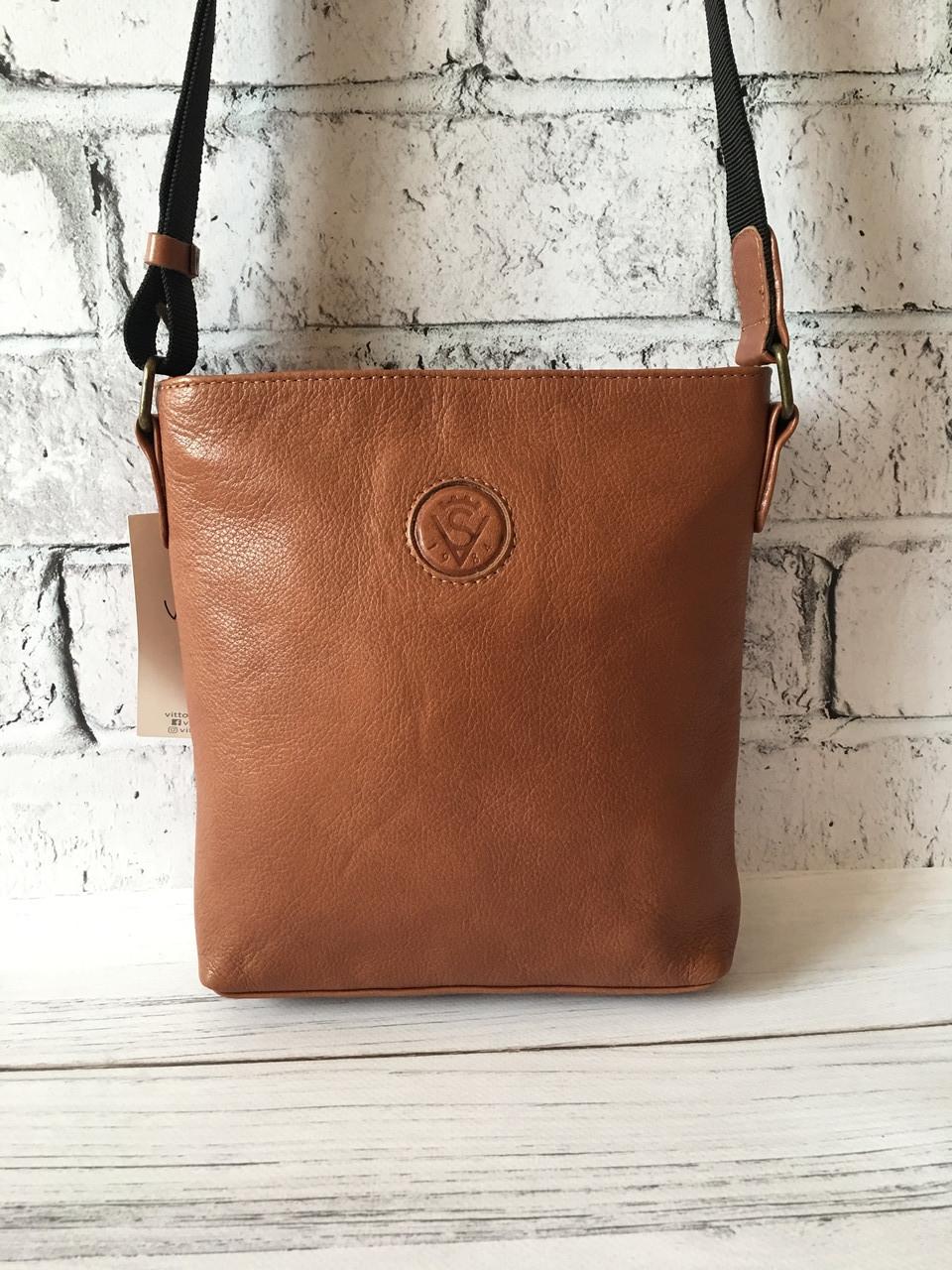 Мужская кожаная сумка через плечо барсетка коричневая ,планшетка ,мессенджер из натуральной кожи