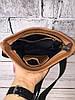 Мужская кожаная сумка через плечо барсетка коричневая ,планшетка ,мессенджер из натуральной кожи, фото 3