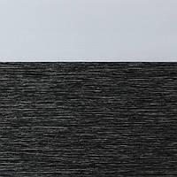 Рулонні штори День-ніч Тканина Барселона Чорний перли
