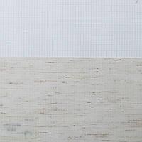Рулонные шторы День-ночь Ткань Каро Белый