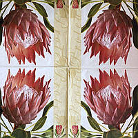 "Салфетка декупажная 33x33 см 18 ""Винтаж ретро Цветы Розы троянды тюльпаны ЦВЕТОК"" Серветка для декупажу"