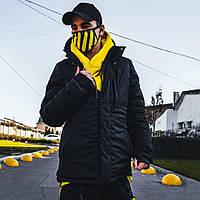 Зимняя мужская куртка Пушка Огонь Frost черная XXXL