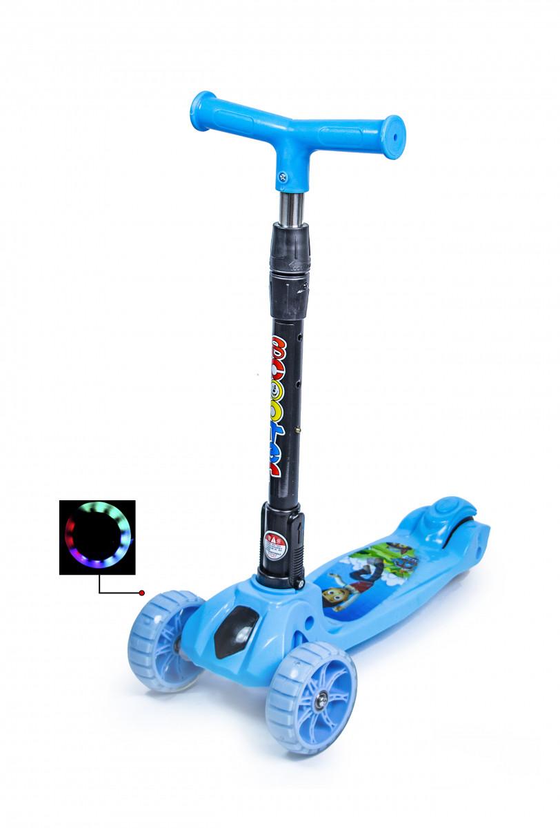 Самокат детский SMART Mini Щенячий Патруль Со светящимися колесами и складной ручкой (SD)