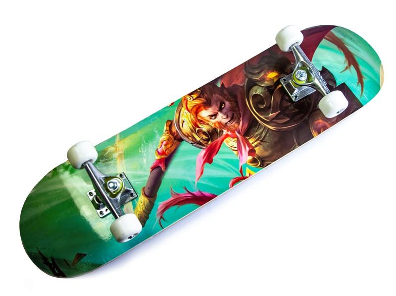 Скейтборд детский Monkey KingС рисунком до 80кг (SD)