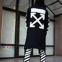 Мантия унисекс в стиле Off white Cross чёрная