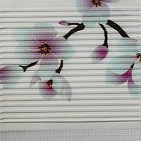 Рулонные шторы День-ночь Ткань Сакура Бирюзовый