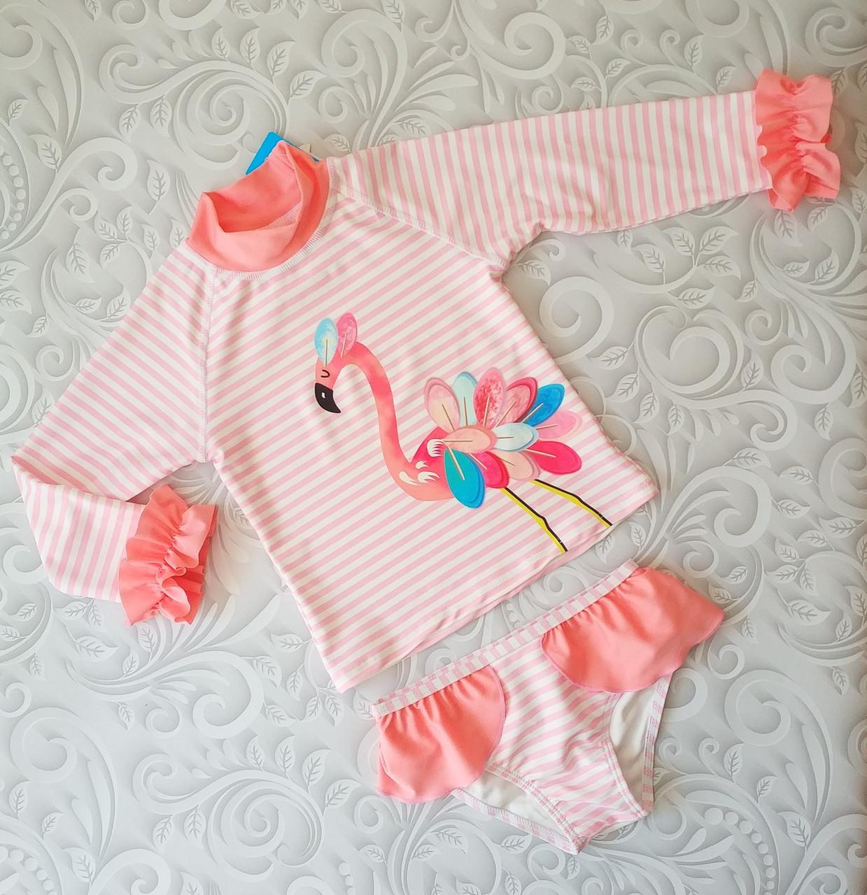 Детский солнцезащитный купальный комплект Фламинго